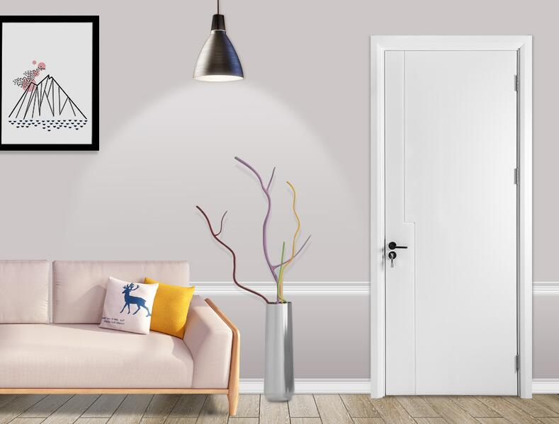 烤漆白色次卧复合门EHDS-021-亿合门窗