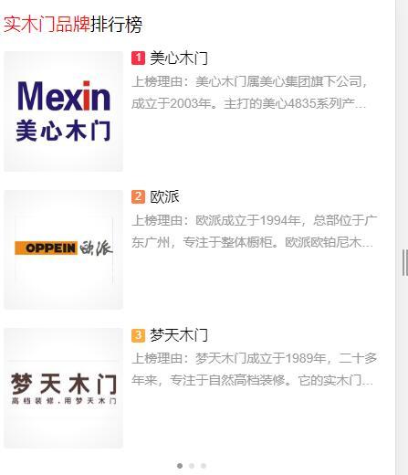 重庆木门10大品牌门有哪些