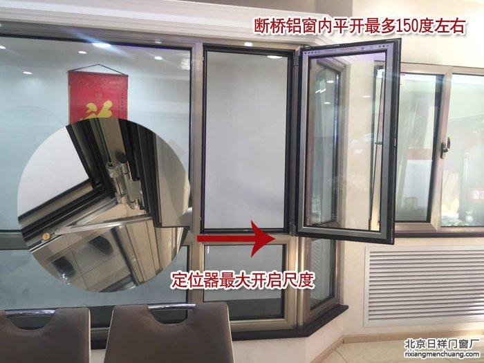 断桥铝窗能平开到180度吗打开后不占用室内空间?