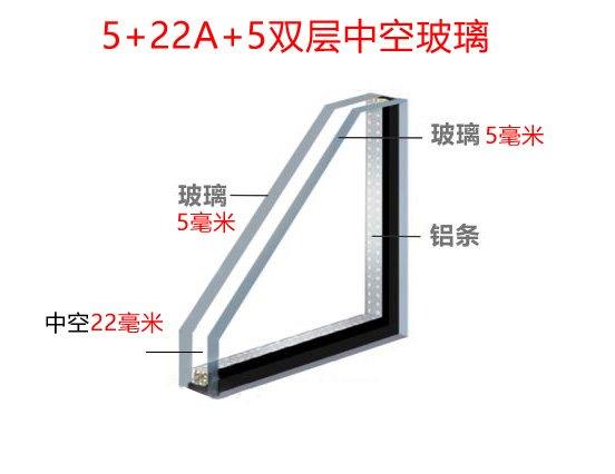 断桥铝中空玻璃5+22A+5双玻是什么意思?